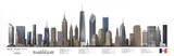 New York City Buildings Art Print Poster