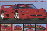 Ferrari F50 (Automobile Photographs) Art Poster Print