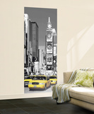 New York City Taxis in Times Square Giant Mural Poster Wall Mural