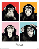 The Chimp Pop Art Print Poster Mini Poster