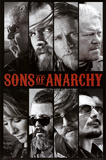 Sons of Anarchy Samcro TV Poster Print Sons of Anarchy - Jax Skull Sons of Anarchy - Bike Circle Sons of Anarchy - Jax Back