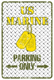 US Marine Parking Only