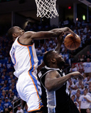 Oklahoma City, OK - June 2: Serge Ibaka and DeJuan Blair