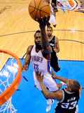 Oklahoma City, OK - June 2: James Harden and Boris Diaw
