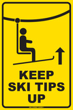 Keep Ski tips up