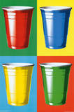 Party Cups Pop Art Poster