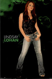 Lindsay Lohan Movie (Green Background) Poster Print