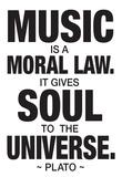 Plato Music Poster