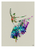 Ballerina Watercolor 5 Premium Poster