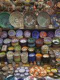 Ceramics on Display at a Shop in the Grand Bazaar, Istanbul, Turkey