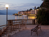 Buy Promenade and Lake at Dusk, Bellagio, Lake Como, Lombardy, Italian Lakes, Italy, Europe at AllPosters.com