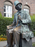 Hans Christian Anderson Monument and City Hall, Copenhagen, Denmark, Scandinavia, Europe