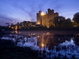 Bunratty Castle on the Banks of the Ratty River at Dusk