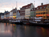 Nyhavn at Dusk, Copenhagen, Denmark, Scandinavia, Europe
