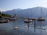 Boat Harbour and Lake, Bellagio, Lake Como, Lombardy, Italian Lakes, Italy, Europe