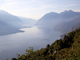 Buy View Towards Lecco at Sunrise, Civenna, Bellagio, Lake Como, Lombardy, Italian Lakes, Italy, Europe at AllPosters.com