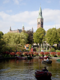 Tivoli Gardens and City Hall Clock Tower, Copenhagen, Denmark, Scandinavia, Europe