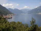 Buy View of Lakeside Village, Lake Como, Lombardy, Italian Lakes, Italy, Europe at AllPosters.com