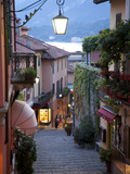 Shopping Street at Dusk, Bellagio, Lake Como, Lombardy, Italy, Europe Photographic Print