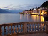 Buy Promenade and Lake at Dusk, Bellagio, Lake Como, Lombardy, Italian Lakes, Italy, Europe at AllPosters.com