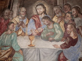 Last Supper, Our Lady of Assumption Church, Cordon, Haute-Savoie, France, Europe