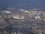 Aerial View of the 2012 Olympic Stadium, Stratford, East End, London, England, United Kingdom, Euro