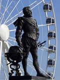Statue of Sir Francis Drake, Plymouth Hoe, Plymouth, Devon, England, United Kingdom, Europe