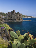 Buy The Castle and Coastline, Aci Castello, Sicily, Italy, Mediterranean, Europe at AllPosters.com