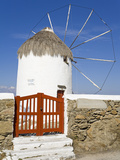 Bonis Windmill at the Folklore Museum in Mykonos Town, Island of Mykonos, Cyclades, Greek Islands,