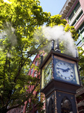 The Steam Clock on Water Street, Gastown, Vancouver, British Columbia, Canada, North America