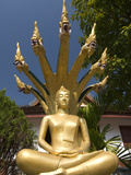 Sitting Buddha with Naga Heads, Wat Mai Complex, Luang Prabang, Laos, Indochina, Southeast Asia, As