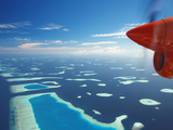 Aerial View of Atolls, Maldives, Indian Ocean, Asia