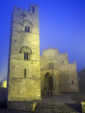 Buy The Duomo in Fog at Dusk, Erice, Sicily, Italy, Europe at AllPosters.com
