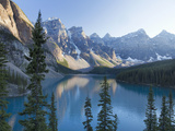 Reflections in Moraine Lake, Banff National Park, UNESCO World Heritage Site, Alberta, Rocky Mounta