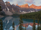 Early Morning Reflections in Moraine Lake, Banff National Park, UNESCO World Heritage Site, Alberta