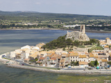 View of the Watchtower at Gruissan in Languedoc-Roussillon, France, Europe