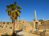 Obelisks of Tuthmosis I and Hatshepsut, Temple of Amun, Karnak, Thebes, UNESCO World Heritage Site,