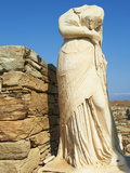 Statue of Cleopatra, House of Cleopatra, Quarter of the Theatre, Delos, UNESCO World Heritage Site,