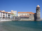 View of the Church of Notre-Dame-Des-Anges from the Harbour at Collioure, Cote Vermeille, Languedoc