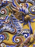 Detail from Chinese Gateway Inside the Imperial City, the Citadel, Hue, UNESCO World Heritage Site,