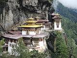 Tigernest, Very Important Buddhist Temple High in the Mountains, Himalaya, Bhutan