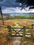 UK, England, Derbyshire, Peak District National Park, from Stanage Edge
