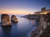 Lebanon, Beirut, the Corniche, Pigeon Rocks
