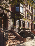 Brownstone Buildings in Harlem, Manhattan, New York City, USA