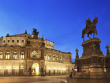 Germany, Saxony, Dresden, Old Town, Theaterplatz, Semperoper Opera House