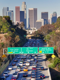 Pasadena Freeway (CA Highway 110) Leading to Downtown Los Angeles, California, USA