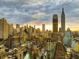USA, New York, Manhattan, Midtown Skyline Including Empire State Building