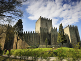 Guimaraes Castle, Where Portugal Was Founded in the 12th Century. a UNESCO World Heritage Site.