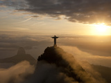 Statue of Jesus, known as Cristo Redentor (Christ the Redeemer), on Corcovado Mountain in Rio De Ja Photographic Print