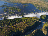 Zimbabwe, Victoria Falls, an Aerial View from Above the Falls